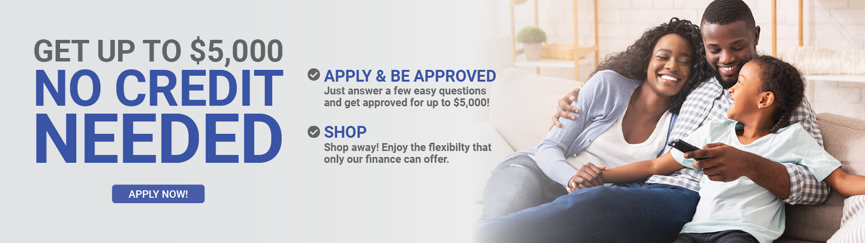 Flexiable financing options just for you