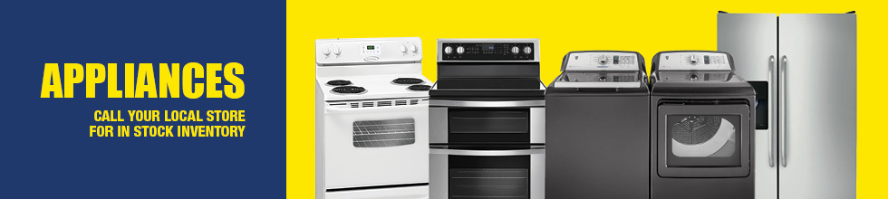 Call your local Rental City Store for Appliances inventory